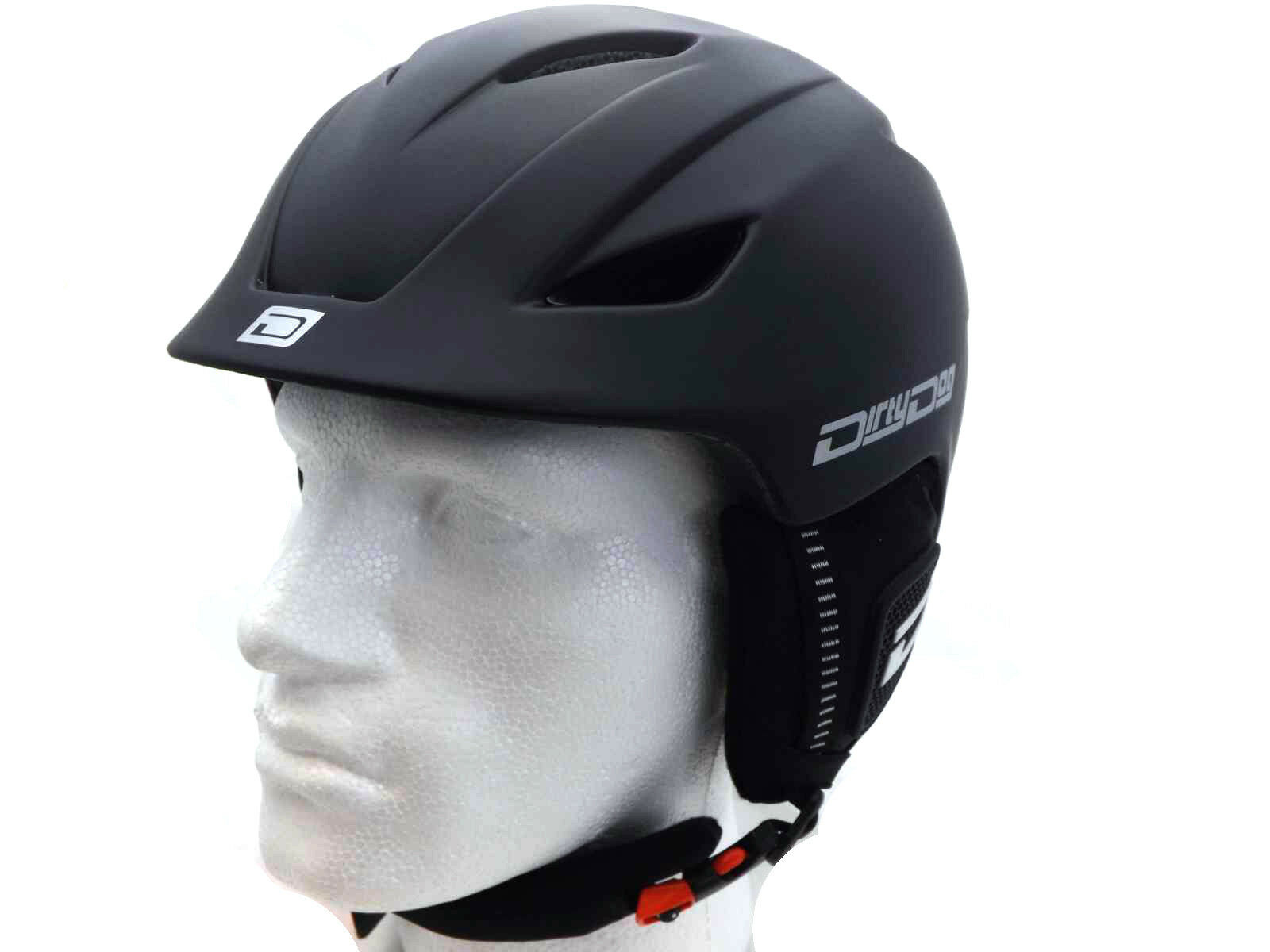 Dirty Dog Tamaño Pequeño Ajustable Eclipse Casco Snowboard Negro Mate