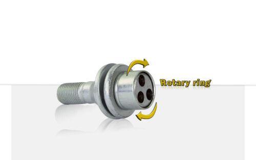 Citroen C4 Picasso 2013-Onwrads Heyner wheel locking nuts M12x1,25 bolts
