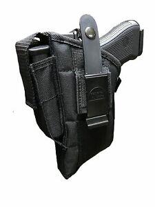 "Belt /& Clip Gun Holster With Magazine Pouch For Springfield XDM 4.5/"" Barrel"