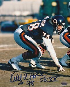 Keith-Van-Horne-Chicago-Bears-Autographed-8x10-Photo-With-HOF-Inscription