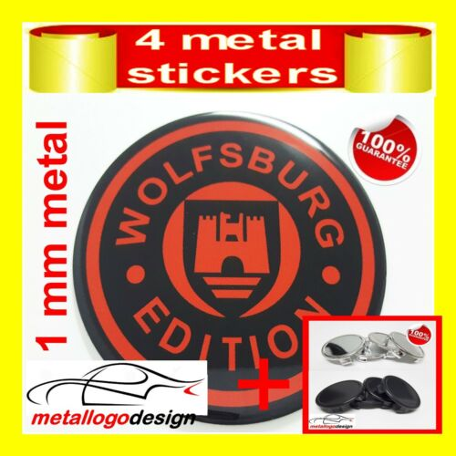 4pcs WOLFSBURG 4 WHEELS CENTER CAPS Centro Tapas LLantas CAPS+STICKERS