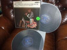 Audiophile Denon PCM OX-7086-7-ND, Japan, Bach Sonatas Flute Adorjan Dreyfus 2LP