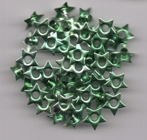 Tolle Eyelets Nieten Ösen Sterne 50 Stück 8mm x 3mm Farbe selbst wählen