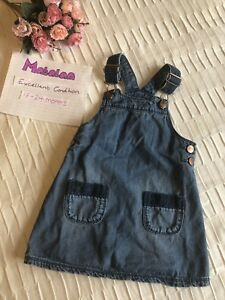 quality first biggest selection latest trends of 2019 Details about Girls 18-24 Months Dungaree Dress Denim Matalan 18-23