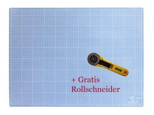 Gratis Rollschneider  Schneideunterlage A2-60 x 45 cm Schneidematte