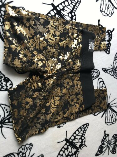 Victoria's M Yoga Strass Nero Damask Nwt Oro Legging Secret Rosa Bling v7Fx4f