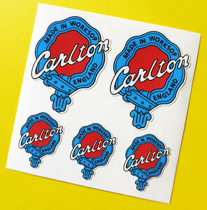 CARLTON-style-Vintage-1960-039-s-era-Cycle-Bike-Frame-Fork-Decals-Stickers