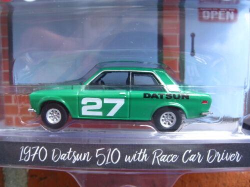 Datsun 510 mit Rennfahrer  HOBBY SHOP  Serie 5  Limitiert  1:64  OVP  NEU
