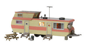 Woodland-Scenics-N-BR4951-Double-Decker-Trailer-Built-and-Ready-with-LED-7-PCS
