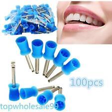 Economy ship 100PC Dental Polishing Polish Prophy Cup Brush 4 Webbed  Latch Type