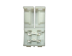 10 X 10mm LED Strip Lights Connector Clips 2pin for 5050 On Connect Solderless