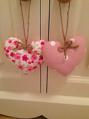 💗PinkHanging Hearts - Clarke and Clarke Ditsy Rose & Dotty Spot £3.50 Each💗