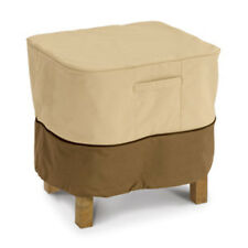 Classic Accessories Ottoman/Side Table Cvr Rect/Large Pebble,Earth,Bark 72912