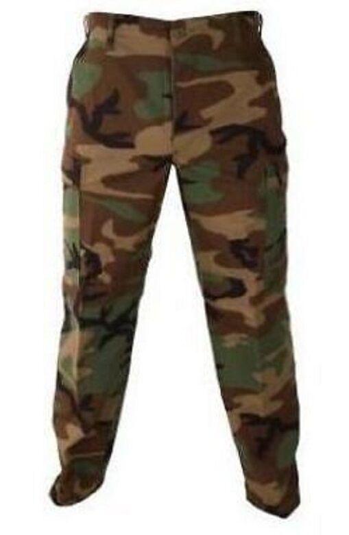 US Army Woodland Camouflage BDU Battle Dress Marsoc PANTS PANTALONI SL/Small Long