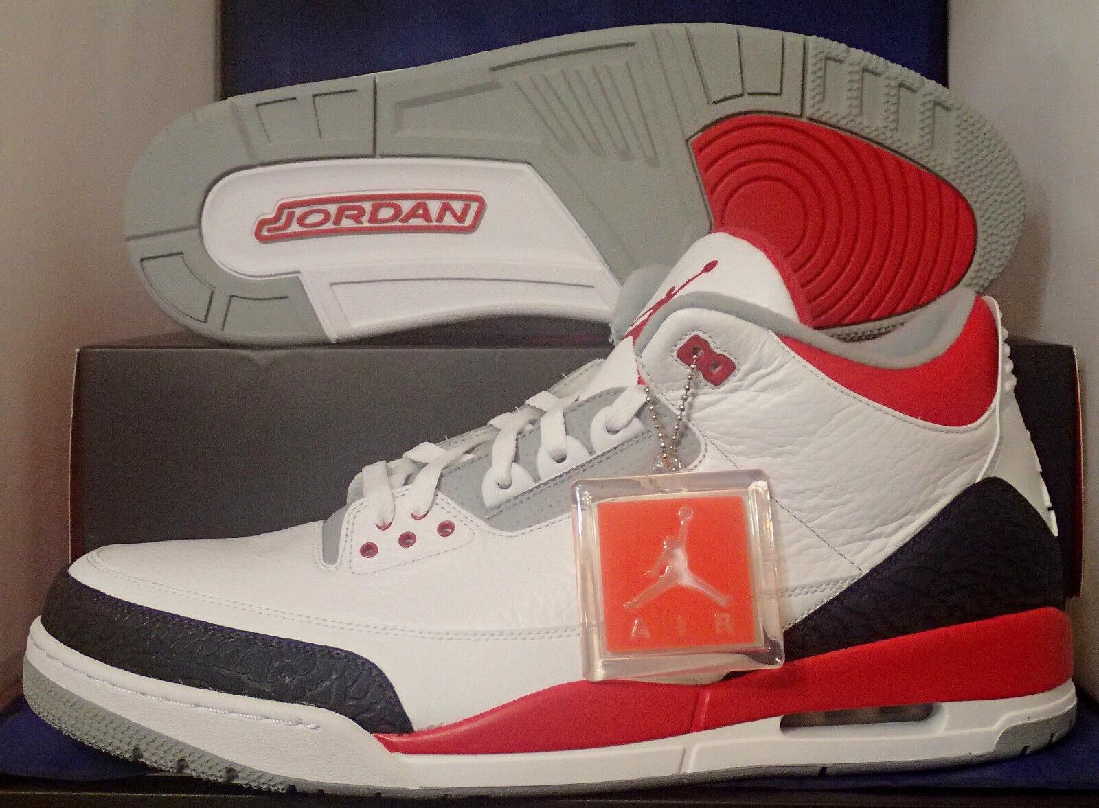 Nike Air Jordan 3 III retro rojo fuego reduccion de vendido precio el modelo mas vendido de de la marca 08b2ec