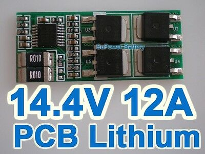 4S Li-ion Lithium Battery Input Ouput Protection Board PCB 14.4V 14.8V 16.8V 12A