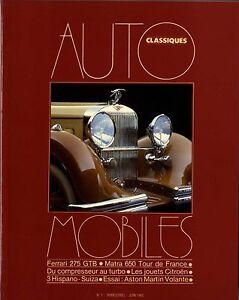 AUTOMOBILES-CLASSIQUES-n-1-JUIN-1983-FERRARI-275GTB-MATRA-650-TDF-HISPANO-SUIZA