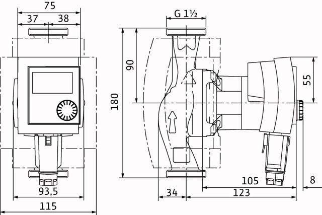 Heizungspumpe,  Wilo Stratos Pico 30/1-4 (DE),  Hocheffizienz Umwälzpumpe Umwälzpumpe Umwälzpumpe c80735