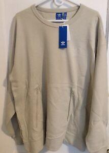 c5d1fd5dfaf8 Adidas Men s Instinct Crewneck Sweatshirt BK0514 Thermal Tan Light ...