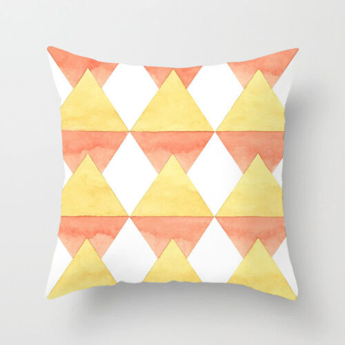 Polyester Geometry Wave Pattem Sofa Pillow Case Cushion Cover Home Decor 18/'/'