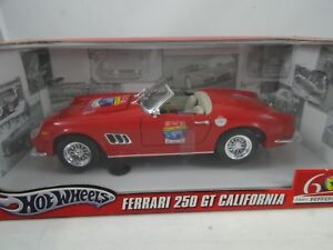 1 18 Hot Wheels L2948 Ferrari 250 Gt California 60th Anniversary Red Rarität Ebay