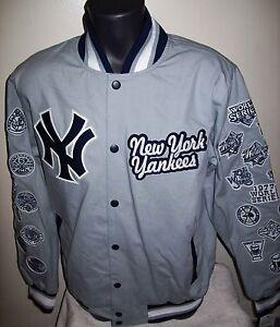 New York Yankees 27 Time World Series Champions Jacket Gray S M L Xl