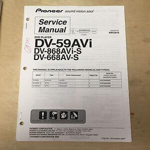 pioneer service manual for the dv 59avi 868avi s 668av s dvd player rh ebay com Pro-Form 955R Owner's Manual Atari Climber Manual 2600
