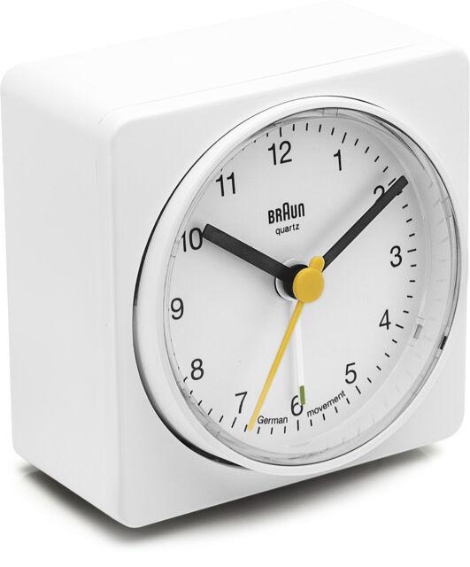 Réveil Quartz BRAUN Blanc - Classic - Alarme Pivot - BNC011WHWH