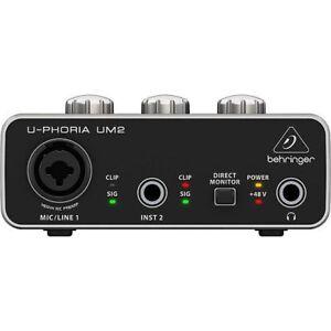 Behringer-UM2-UPhoria-USB-Audio-Interface-Tracktion-4-Audio-Production-Soft