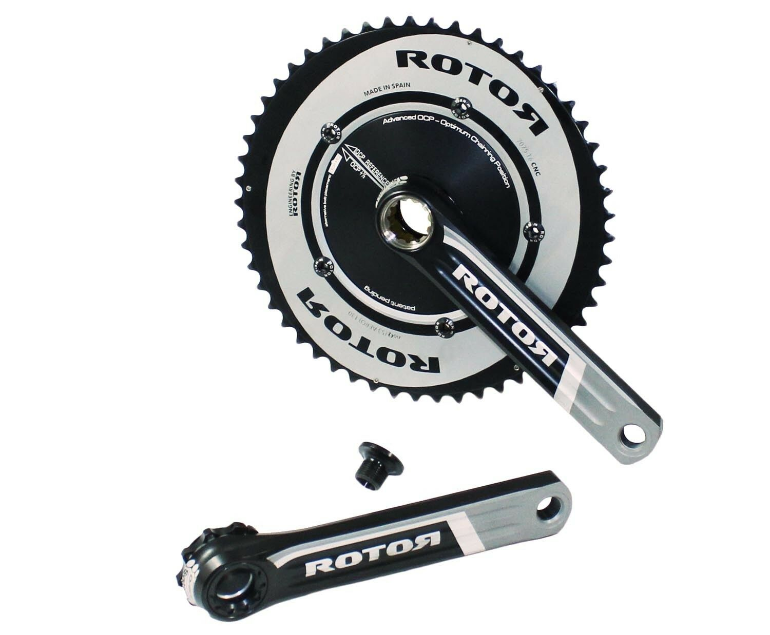 Rotor 3D 7075-T6 CNC Crank Crankset 53 39 Teeth Ø165mm Sprocket