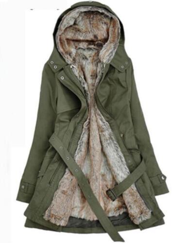 Fashion Womens Thicken Warm Winter Coat Hood Parka Overcoat Long Jacket Outwear