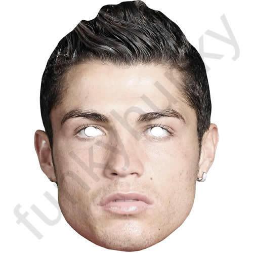 tous nos masques sont Pré-Coupé! Cristiano Ronaldo footballeur Célébrité Carte Masque