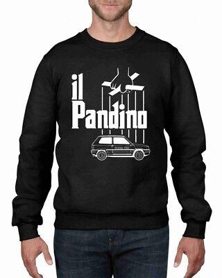 FELPA DA UOMO GIROCOLLO PANDA FIAT PANDA DIVERTENTE PANDINO