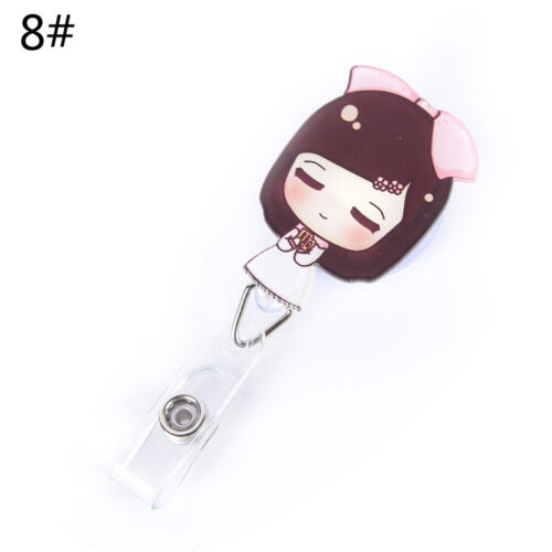 Retractable Badge Reel Nurse Exihibitons ID Name Card Badge Holder Office Sup FZ