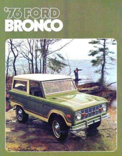 BRONCO 1976 Sales Brochure 76