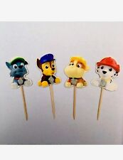 12 x PAW PATROL torta prelievi/Cupcake Toppers Bambini Compleanno RYDER SKY PELUCHE 2