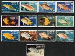 PITCAIRN Is, 1984 FISH DEFINATIVES 13 MNH