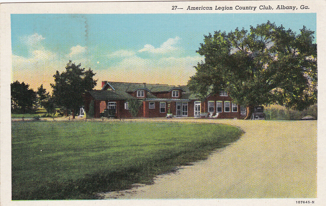 ALBANY , Georgia , 1910-30s ; American Legion Country Club