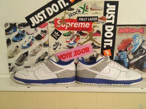 """Nike Dunk Low """"Jordunk"""" 2008 Mens Size 12 100% Aut"""