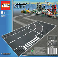 Lego Classic T-junction & Curved Road Platesbuilding Play Set 7281