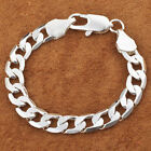 Hot Top Sale 925 Silver plated Cute Nice Men Women Chain Bracelet Jewelry