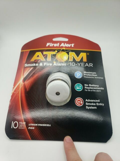 First Alert ATOM Smoke & Fire Alarm Max Protection Micro design 10 Year NEW