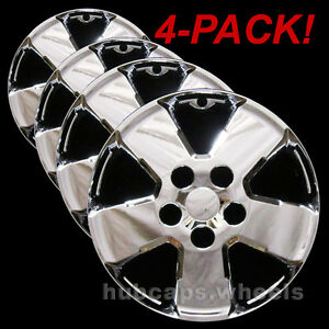 2008-2012 Ford Escape 16 Chrome Wheel Skins Covers Hubcaps 687P-C Set of 4 NEW Hub Caps