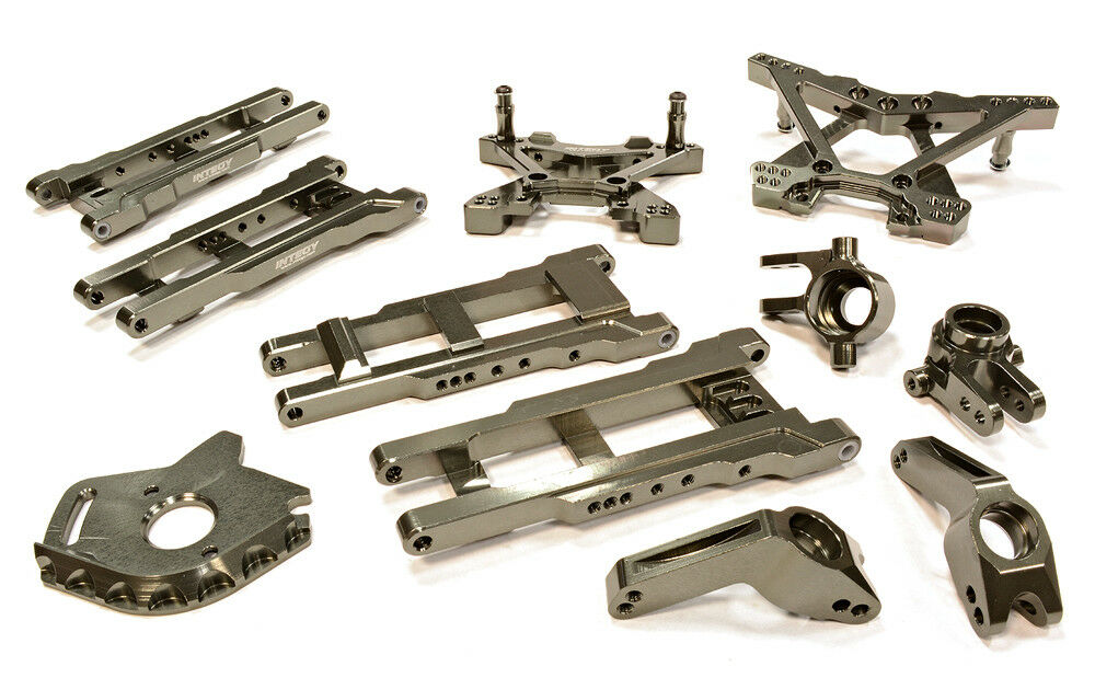 INTEGY RC T8580gris Suspension Set for 1 10 Stampede 4X4 & Slash 4X4(High-CG)