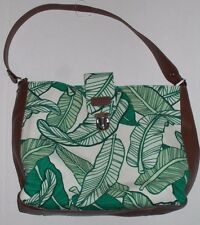 Sloane Ranger Banana Leaf Shoulder Bag, EUC,  canvas, vinyl, large size