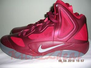 4f27a844578 NEW NIKE ZOOM HYPERFUSE 2011 SUPREME SZ 12 Team Red Grey 469757-600 ...