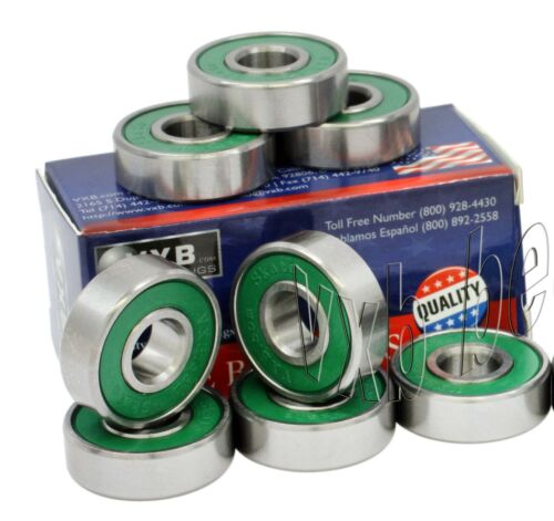 8 Premium ABEC5 High Precision Skateboard Bearings for Racing