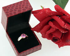 Ring 750 Gold Diamant diamond synthetic pink Saphir sapphire Gr. 53 top schön