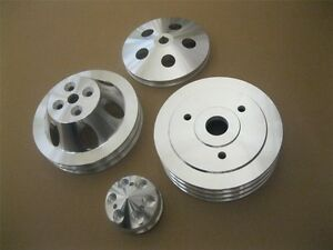 Big Block Chevy SWP Aluminum Water Pump Crankshaft /& Alternator Pulley Kit BBC