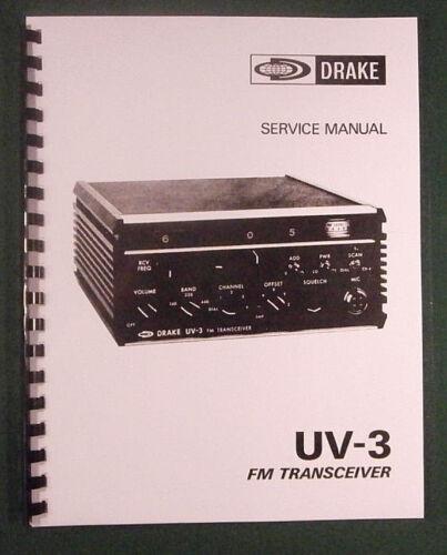 "Drake UV-3 Service Manual 11/"" X 17/"" Foldout Schematics /& Card Stock Covers!"
